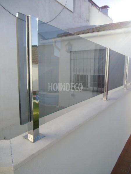 Balc n acero inox y cristal mod 2 hoindeco - Balcones de cristal ...