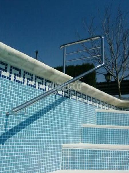 Baranda inox piscina mod 1 hoindeco for Barandilla piscina