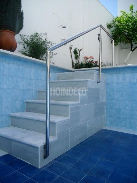 Baranda inox piscina mod 2 hoindeco for Barandilla piscina